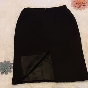 NWOT Gianni Versace Black pencil skirt
